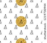 triangles and golden circles ... | Shutterstock .eps vector #1219730944