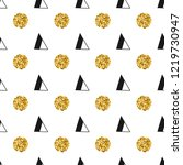 triangles and golden circles ... | Shutterstock .eps vector #1219730947