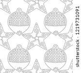 gingerbread. black and white...   Shutterstock .eps vector #1219731091
