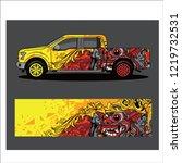 car decal vector  barong...   Shutterstock .eps vector #1219732531