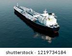 3d Aerial View Of Oil Tanker...