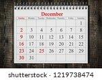 december 25 in the calendar on...   Shutterstock . vector #1219738474