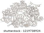 santa claus after the new year... | Shutterstock .eps vector #1219738924