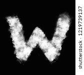 alphabet text font words smoke... | Shutterstock . vector #1219739137
