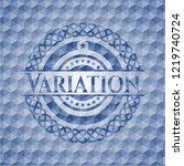 variation blue emblem with... | Shutterstock .eps vector #1219740724
