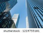 facade of modern city building | Shutterstock . vector #1219755181