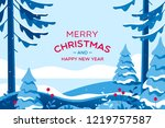 merry christmas card with... | Shutterstock .eps vector #1219757587