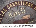 zero kilometer point ... | Shutterstock . vector #1219757887