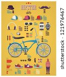 hipster info graphic background ... | Shutterstock .eps vector #121976467