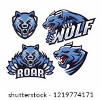 collection professional wolf...   Shutterstock .eps vector #1219774171