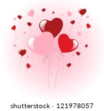 balloons heart. bunch of... | Shutterstock .eps vector #121978057