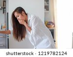 asian woman sick about throwing ...   Shutterstock . vector #1219782124