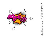 boom    comic style phrase with ... | Shutterstock .eps vector #1219791937