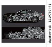 car decal vector   tiger... | Shutterstock .eps vector #1219793491