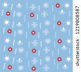 seamless christmas pattern... | Shutterstock .eps vector #1219808587