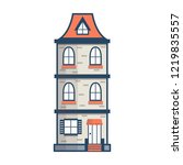 vector illustration with flat... | Shutterstock .eps vector #1219835557