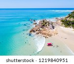 the pass at byron bay from an... | Shutterstock . vector #1219840951