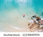 the pass at byron bay from an... | Shutterstock . vector #1219840954