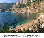 cap d ail beach  france  | Shutterstock . vector #1219852441