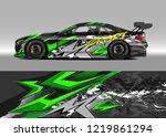 racing car wrap design vector....   Shutterstock .eps vector #1219861294