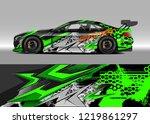 racing car wrap design vector....   Shutterstock .eps vector #1219861297