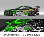 racing car wrap design vector....   Shutterstock .eps vector #1219861321