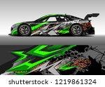 racing car wrap design vector....   Shutterstock .eps vector #1219861324