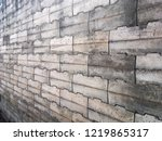 grunge old stone brick wall for ... | Shutterstock . vector #1219865317