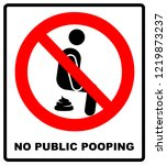 no public pooping symbol. do... | Shutterstock . vector #1219873237