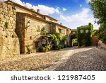 Typical Street In Peratallada ...