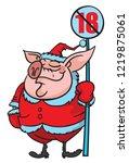 symbol of 2019 funny pig vector ...   Shutterstock .eps vector #1219875061