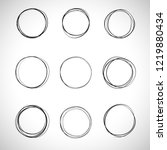 circle hand drawn set isolated... | Shutterstock .eps vector #1219880434
