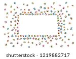vector background. large group... | Shutterstock .eps vector #1219882717