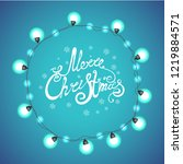merry christmas and lettering ... | Shutterstock .eps vector #1219884571