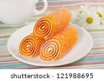 Colorful Candies Jelly On A...