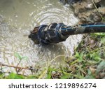 poly pipe or hdpe pipe leaking | Shutterstock . vector #1219896274