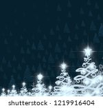 abstract snowflakes. 2d... | Shutterstock . vector #1219916404
