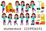 girl schoolgirl kid poses set.... | Shutterstock . vector #1219926151