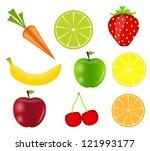 fresh fruits. raster version. | Shutterstock . vector #121993177