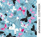texture of butterflies | Shutterstock .eps vector #121993324