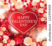 valentine's day card  banner | Shutterstock .eps vector #121994509