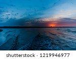 sunset at essaouira's beach... | Shutterstock . vector #1219946977