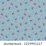 cute floral pattern in the... | Shutterstock .eps vector #1219951117