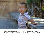 outdoor portrait of little boy | Shutterstock . vector #1219956937