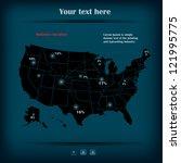 vector info graphic map | Shutterstock .eps vector #121995775