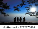 silhouette sunrish at phu... | Shutterstock . vector #1219970824
