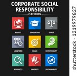 corporate social responsibility ... | Shutterstock .eps vector #1219979827