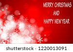 merry christmas and happy new... | Shutterstock .eps vector #1220013091
