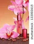 women's perfume in beautiful... | Shutterstock . vector #122002615