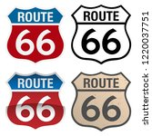 route 66 vector signs... | Shutterstock .eps vector #1220037751
